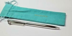 WORKING Tiffany & Co. Sterling Silver Golf Ballpoint Pen Writing Instrument