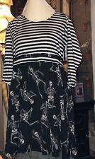 Sourpuss Striped skeleton dress Plus Size XXL Halloween Everyday