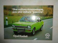 Catalogue brochure OPEL Kadett 1976