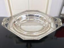 Corbeille à pain Art Déco métal argenté Service de table Plat Ustensile cuisine
