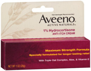 AVEENO Active Naturals 1% Hydrocortisone Anti-Itch Cream 1 oz