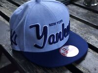 NEW ERA OFFICIAL NEW YORK YANKEES RETRO DENIM Snapback Baseball Cap S/M 9FIFTY