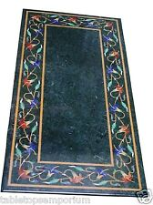 4'x2' Marble Dining Table Top Mosaic Floral Marquetry Inlay Home Decor Furniture