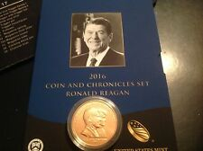 2016 COIN & CHRONICLES SET - Medal Only Ronald/Nancy Reagan w/OGP mint box
