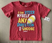 Dr. Seuss Toddler Boys Tee Red Oh the Places You'll Go Shirt Size 4T