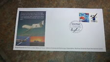 2001 AUSTRALIAN GLOBAL HAWK DRONE P STAMP FDC, EDINBURGH