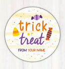 """48 Personalized Halloween Trick Or Treat Bag Stickers Goodie Bag Labels 1.67"""""""