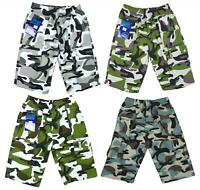 Boys Shorts Trendy Army Camo Camouflage Combat Summer Fashion 3-14 Years