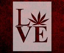 Love Marijuana Weed Leaf 8.5