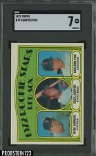 1972 Topps #79 Red Sox Rookie Stars w/ Carlton Fisk RC HOF SGC 7 NM