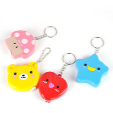 Cartoon Keychain Retractable Tape Ruler Measure Keyring Pocket Size Metric 1_HC