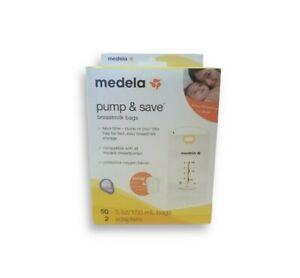 MedelaPump&SaveBreastmilk Storage Bags 50 ct with 2 Easy Connect Adapters