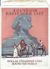 vintage cruise lines - President Van Buren 1924 passenger list