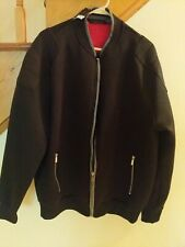 Sean John Men's Front Full Zip Casual Jacket Size XL zippered pockets Black