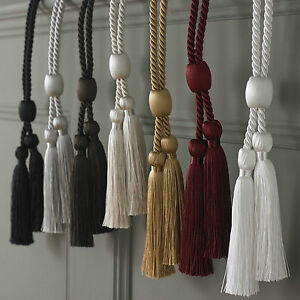 Tie Backs Rope Style with Twin Tassel. Choice of Colours Price Per pair Free P&P