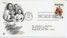 US Scott #1455, First Day Cover 3/18/72 New York Single Family Planning