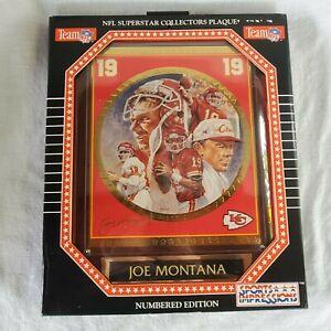 Joe Montana 1994 NFL Superstar Collectors Plaque 3046-62