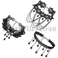 3PCS Fashion Women Pendant Choker Collar Chunky Statement Bib Necklace Set