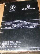 PIAGGIO ENGINE 125 / 180cc SERVICE STATION MANUAL  (NEW BUT OLD STOCK)