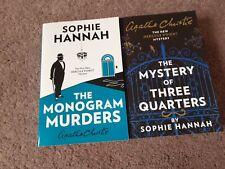 Sophie Hannah The Hercule Poirot Mysteries Agatha Christie x 2
