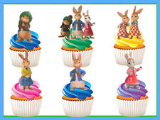 12 STAND UP PETER RABBIT EDIBLE BIRTHDAY CUPCAKES CUP CAKE IMAGES TOPPERS