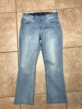 LEE JEANS PLATINUM LABEL SZ 10 s US 12 UK 31W X 28L COMFORT WAISTBAND DENIM VGC