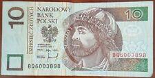 Billet de Banque POLOGNE 10 Zloty Zlotych issu de la circulation POLSKI