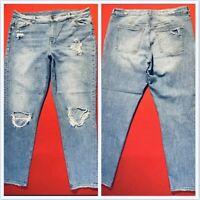 DIVIDED ~ H&M ... Distressed  Skinny  Denim  Blue  Jeans ... Size  12
