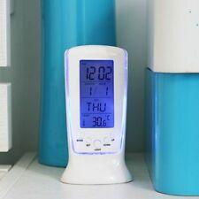 Digital Calendar Temperature LED Digital Alarm Desk Clock With Blue Back Light