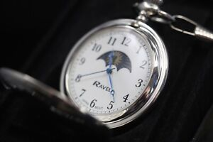 Pocket Watch with Guarantee New Ravel UK Stock ***Free Engraving***