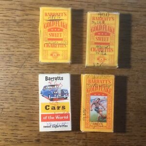 4 Vintage Sweet Cigarette Empty Packets