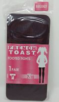 Footed Tights Burgundy Size 7-10 by French Toast