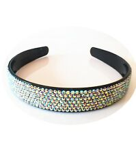 USA Handmade Headband Rhinestone Crystal Hairband Hairpin Bling Black AB C03