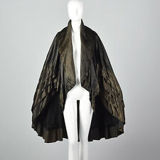 1920s Layered Silk Cape Evening Wear Outerwear Art Deco Glamorous Formal 20s VTG