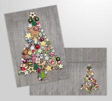 """10-er Weihnachtskarten Set """"BUNTER WEIHNACHTSBAUM"""" mit Umschlägen"""