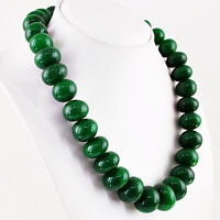 RARE 1118.50 CTS EARTH MINED RICH GREEN EMERALD ROUND SHAPE HUGE BEADS NECKLACE