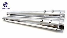 "MUTAZU 4"" FLUTED TIP SLIP-ON MEGAPHONE MUFFLERS FOR HARLEY TOURING 95-16 EXHAUST"