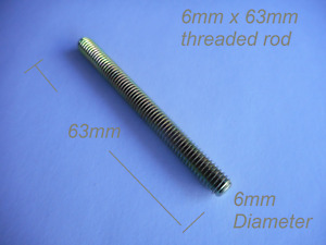 6mm Zinc Threaded Rod studs 63 mm in length  10  20  50  100 pack available here