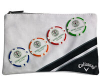 Callaway Golf Zipped Valuables Pouch - 4 X Poker Chip Ball Markers New