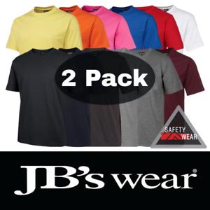 2x JB's Wear Crew Neck Tee Shirt 100% Cotton 1HT
