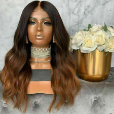 Luxury Lace Front Remy Wavy Ombre Ash Brown Full Lace Human Hair Wig Auburn