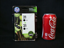 Lot Of (2) New HP 21 Black Ink Cartridges - Warranty Expired NOV. 2017