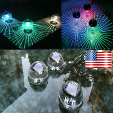 Solar Power Led Floating Lights Garden Pool Lamp Color Changing Waterproof Usa