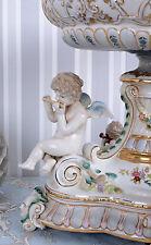 Giardiniera Ciotola Porcellana Vintage Amorini Vaso Cerimonia In Angelo