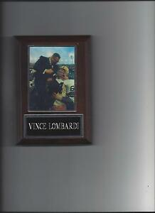 VINCE LOMBARDI PLAQUE GREEN BAY PACKERS FOOTBALL NFL