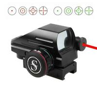 Sniper Holographic Red & Green Dot Laser Sight 4 Reticles with red laser