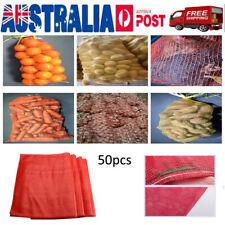 50Pcs Poly Mesh Bags Fruits Drawstring Toys Vegetables Mesh Net for Farm Stands