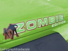 "Custom Hood Decal Pair ""ZOMBIE EDITION""  Sticker Truck Jeep Apocalypse Survival"
