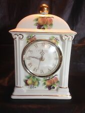 "Formalities by Baum Bros ""Fruit"" Mantle Ceramic Clock"