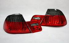 LED RÜCKLEUCHTEN HECKLEUCHTEN SET BMW E46 3er CABRIO -03 ROT BLACK +LED BLINKER